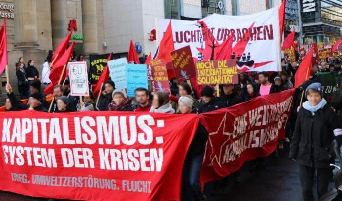 """Bericht zur Demonstration """"Für eine Welt in der niemand fliehen muss"""""""