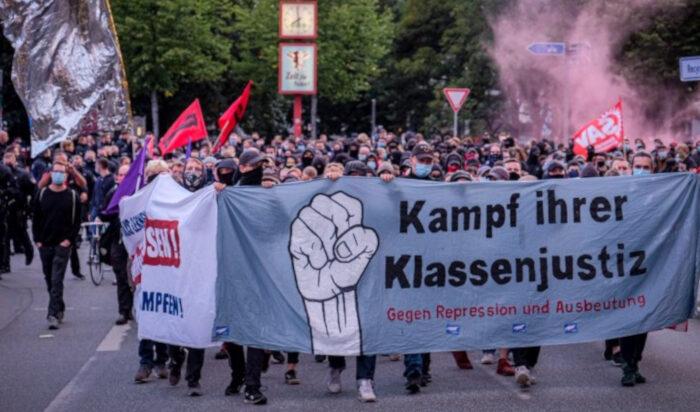 Razzia gegen Roten Aufbau – Kampf der Klassenjustiz!