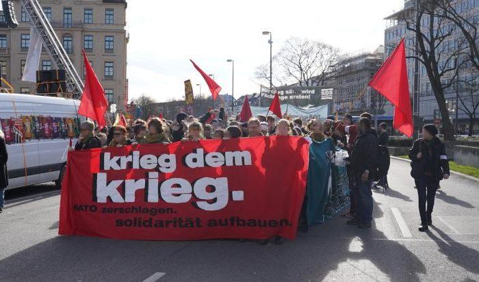 Kämpferischer Protest gegen die Nato- Sicherheitskonferenz in München durchgesetzt